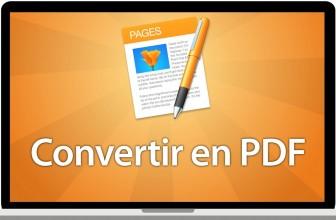 Comment convertir un fichier pages en pdf ?