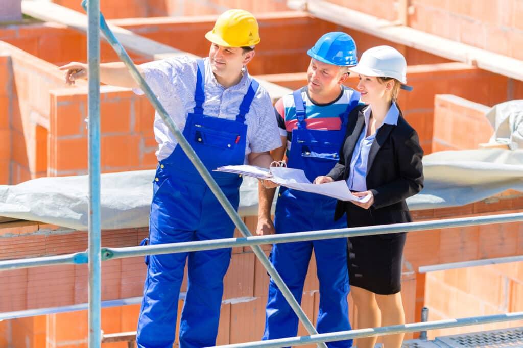 travaux au chantier